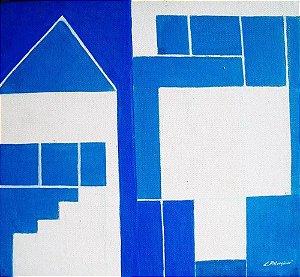 Lyria Palombini - Quadro, Arte em Pintura Geométrica, Acrílica Sobre Eucatex, Assinada