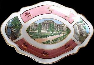 Antiga e Colecionável Travessa de Servir em Porcelana, São Paulo, Museu do Ipiranga