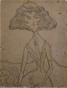 Rodrigo de Haro - Quadro, Arte em Desenho Original, Monogramado RH