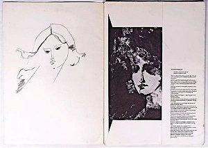 Augusto Rodrigues - Portfólio / Álbum, 10 Estampas de Gravuras, c/ 2 Desenhos Originais, Figurativo Feminino, 1982