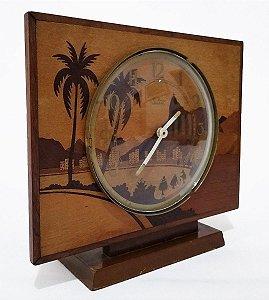 Rio De Janeiro - Relógio De Mesa Antigo, com Rica Marchetaria de  Imagens da Cidade