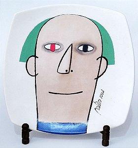 Prato, Arte De Gustavo Rosa, Figura De Homem, 23cm