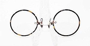 Antigo Par De Óculos Pince Nez  Aro de Tartaruga, Ponte em Ouro 12k - 1/10
