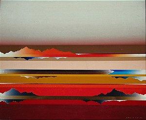 Tetsuro Sawada - Air Scape - Quadro, Arte Pintura Oleo sobre Tela - 83x73cm