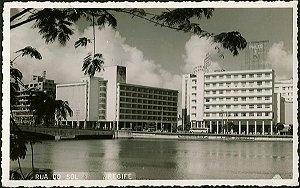 Recife - Pernambuco - Rua Do Sol, Cartão Postal Antigo Original