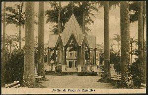 Recife - Pernambuco - Jardim da Praça da República, Cartão Postal Antigo Tipográfico Original de 1908