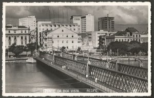 Recife - Pernambuco - Ponte da Boa Vista, Cartão Postal Antigo Fotográfico Original