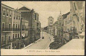 Recife - Pernambuco - Rua do Bom Jesus, Cartão Postal Antigo Tipográfico Original