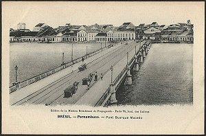 Recife - Pernambuco - Ponte Buarque de Macedo, Cartão Postal Antigo Tipográfico