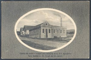 Rio Grande do Sul - Novo Hamburgo - Fábrica de Pratas e Metaes, Cartão Postal Tipográfico Antigo Original