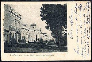 Rio Grande do Sul - Pelotas, Rua Felix da Cunha, Cartão Postal Tipográfico Antigo Original, 1902
