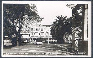 Rio Grande do Sul - Livramento, Pça. Gal. Osorio e Grande Hotel, Cartão Postal Fotográfico Antigo Original