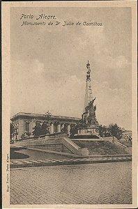 Rio Grande do Sul - Porto Alegre, Monumento a Julio de Castilhos, Cartão Postal Tipográfico Antigo Original