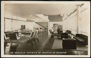 Brasília - Interior do Palácio da Alvorada - Cartão Postal Fotográfico Antigo Original