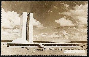 Brasília - Palácio do Congresso - Cartão Postal Fotográfico Antigo Original