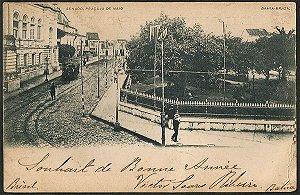 Bahia - Senado - Praça 13 de Maio - Cartão Postal Tipográfico Antigo Original de 1902