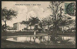 Bahia - Parque Duque de Caxias - Cartão Postal Tipográfico Antigo Original