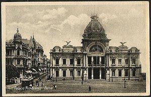 Bahia - Palácio Rio Branco, Movimento de  Bonde - Cartão Postal Tipográfico Antigo Original