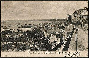 Bahia - Rua da Montanha - Cartão Postal Tipográfico Antigo Original