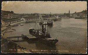 Bahia - Porto de Ilhéus - Cartão Postal Fotográfico Antigo Original
