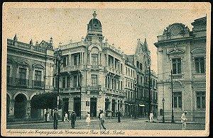 Bahia  - Associação Empregados do Comercio e Rua Chile - Cartão Postal Tipográfico Antigo Original