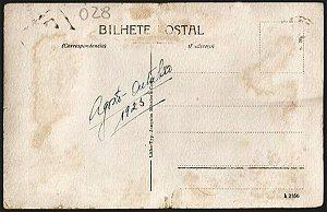 Bahia  - Biblioteca Pública - Movimento de Bonde e Carros -  Cartão Postal Tipográfico Antigo Original de 1925