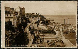 Bahia  - Ladeira da Montanha -  Cartão Postal Fotográfico Antigo Original