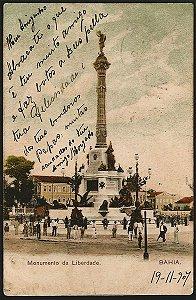Bahia  - Salvador, Monumento da Liberdade -  Cartão Postal Tipográfico Antigo Original de 1907