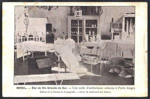 Rio Grande do Sul - Porto Alegre - Uma Sala Ambulatorial - Cartão Postal Tipográfico Antigo Original