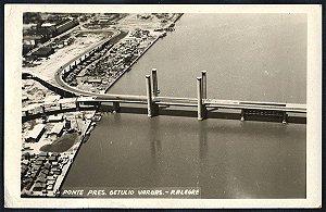 Rio Grande do Sul - Porto Alegre - Ponte Pres. Getulio Vargas - Cartão Postal Fotográfico Antigo Original
