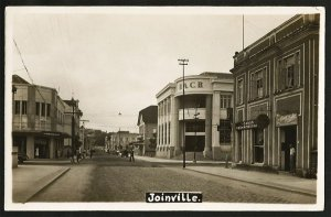 Santa Catarina - Joinville - Rua 15 de Novembro - Cartão Postal Fotográfico Antigo Original
