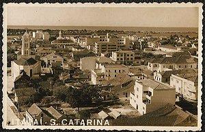 Santa Catarina - Vista Parcial de Itajaí - Cartão Postal Fotográfico Antigo Original