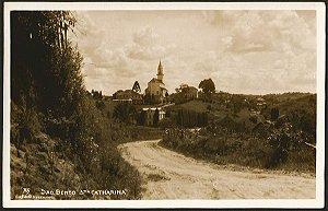Santa Catarina - São Bento - Cartão Postal Fotográfico Antigo Original
