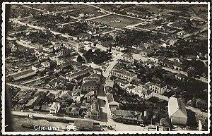 Santa Catarina -Criciuma, Vista Aérea - Cartão Postal Fotográfico Antigo Original