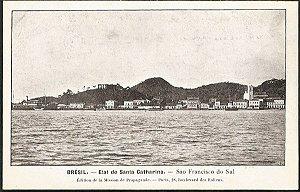 Santa Catarina - São Francisco do Sul - Cartão Postal Tipográfico Antigo Original