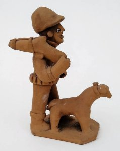Caetana, de Caruaru - Escultura de Barro, Assinada