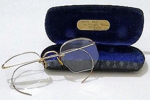 Óculos Antigos Sextavados Banhados a Ouro 12k