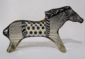 Palatnik, Escultura Em Acrílico Figura Cavalo 25cm