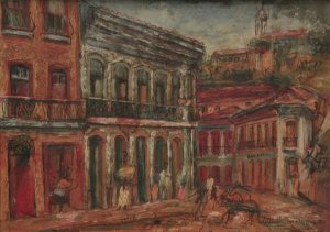 Robert Tatin - Pintura Óleo sobre Tela - Ouro Preto, 1953