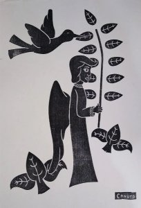 Canuto - Gravura Xilogravura Original Assinada na Chapa