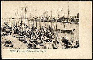 Recife, Pernambuco - Ancoradouro - Cartão Postal Antigo Original