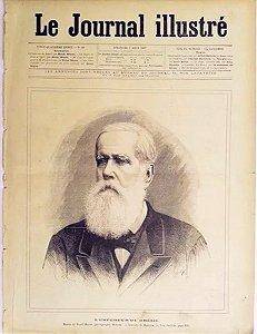 Dom Pedro II - Imperador do Brasil - Jornal Francês Illustré, Original de 1887