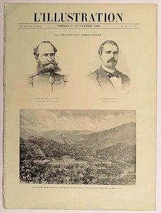 Dom Pedro - Jornal Francês `l´illustration´ de 1889 Reportagem da Deposição do Imperador