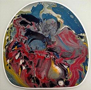 João Kozo Suzuki - Pintura Técnica Mista sobre Madeira - Sonho Fantasia