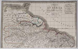 Mapa Do Brasil Original De 1838 - Região Norte