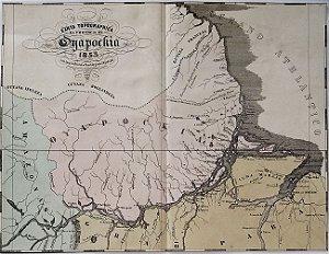 Mapa do Brasil Original de 1853, Oiapoque, Amapa - Carta Tipographica da Provincia do Oyapockia