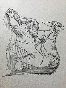 Clovis Graciano - Desenhos Cartão Ano Novo Assinado