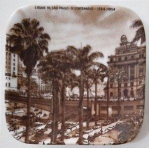 IV Centenário de São Paulo - Despojador com Imagem do Anhangabaú