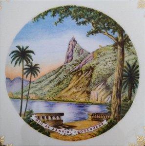 Rio Janeiro, Prato Antigo com Imagem do Corcovado