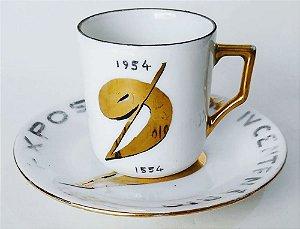 IV Centenário de São Paulo - Xícara Porcelana com Símbolo Comemorativo